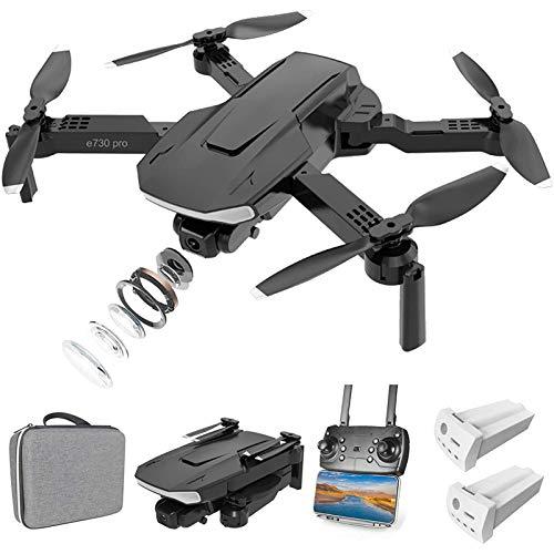 MRSDBTL Drone RC Pieghevole con videocamera HD 4K per Adulti e Bambini, quadricottero RC FPV con Posizionamento del Flusso Ottico, lanci 3D, Volo traiettoria, Controllo gestuale, Controllo App