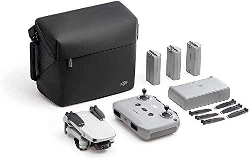 DJI Mini 2 Combo - Ligero y Plegable Drone, 3 Ejes Gimbal con Cámara 4K, Foto 12 MP, 3 Baterías, Centro de Carga, OcuSync 2.0 HD Transmisión de Vídeo, Mavic Mini, Sin Tarjeta, Sin Care Refresh