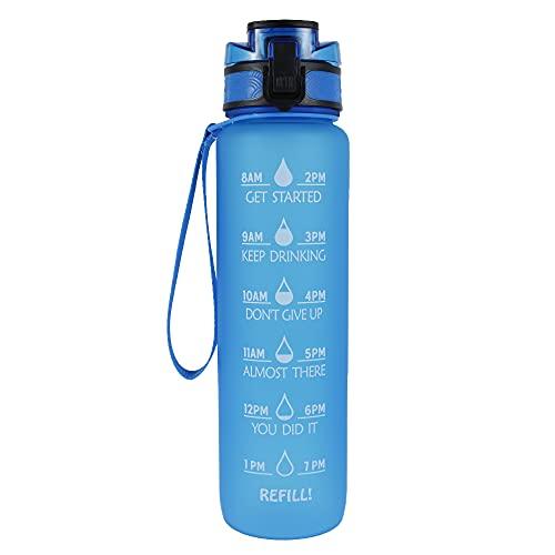 Botella plástica para Beber de Agua para Deportes, Senderismo, Ciclismo, Bebida, Taza, Bebida Libre de BPA