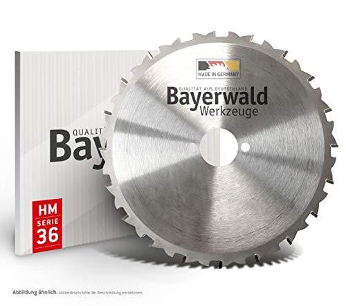 Bayer Bosque – Hm – Hoja de sierra circular (36 dientes Ø 355 mm x 2,6 mm x 30/25.4 + 30/20 mm | Cambio), para el uso desechables en obras