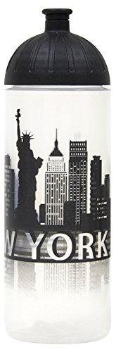 ISYbe Original Marken-Trink-Flasche für Kinder und Erwachsene, 700 ml, BPA-frei, New York-Motiv, geeignet für Schule-Reisen-Sport & Outdoor, Auslaufsicher auch mit Kohlensäure, Spülmaschine-fest