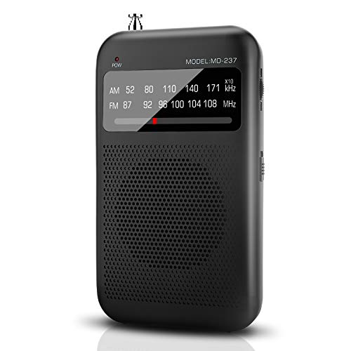 AM FM Radio Portable Radio Battery Operated by 2 AA Batteries, Transistor Pocket Radio with Best Reception, Sounds and Large Speaker Handheld Size for Indoor or Outdoor