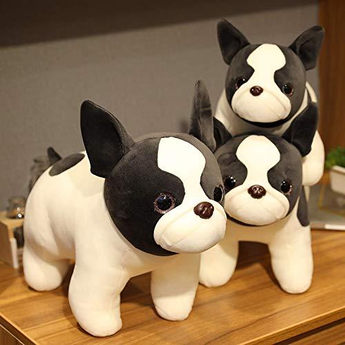 N / A Animal de Dibujos Animados Bulldog Juguete de Peluche Perro de Juguete de Peluche Regalo de cumpleaños para niño de Unos 40 cm