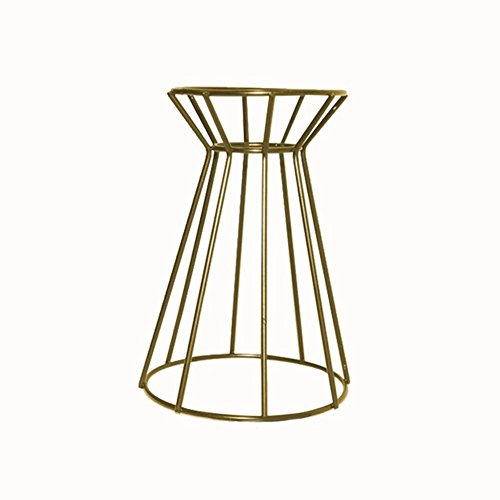 Jinclonder Perfect Three-Dimensional Electroplating Iron Stand for Plant Flower Pot and Planter Ornament Gold