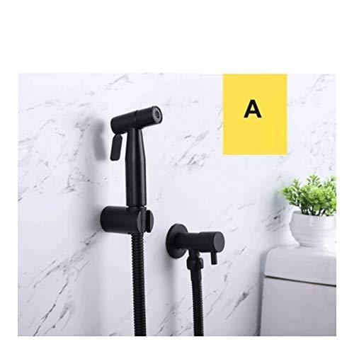 Lowest Prices! Wan Jun 304 Stainless Steel Black Toilet Bathroom Hand Shower Toilet Toilet Sprayer S...
