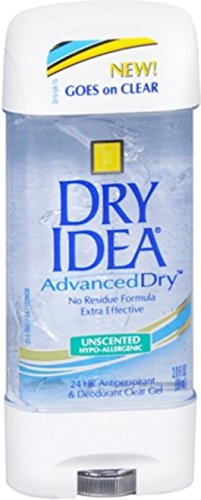 Dry Idea Advanced Dry Unscented Antiperspirant & Deodorant Clear Gel 3 oz (Pack of 5)