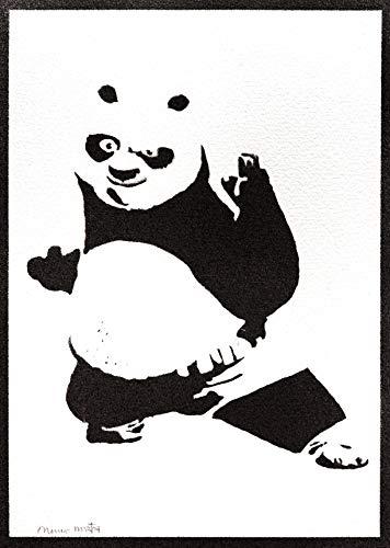 Poster Kung Fu Panda Grafiti Hecho a Mano - Handmade Street Art - Artwork