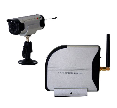 Wisecomm CW3510 4-Channel 2.4GHz Wireless Color Security System with Audio - Small (Grey)