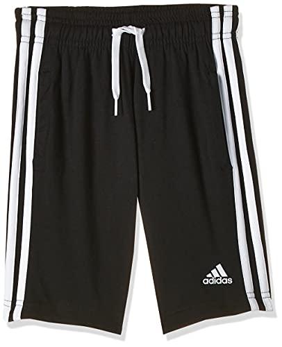 adidas Jungen Shorts Essentials 3-Streifen Knit, Black/White, 164, DV1796