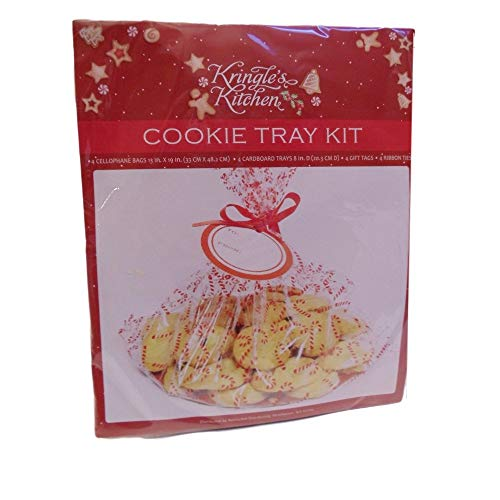 Kringle's Kitchen Cookie Tray Kit 4 Ct Christmas Holiday Cookie Swap