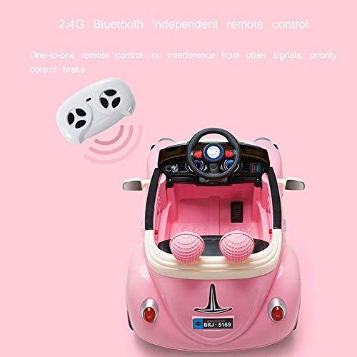 WGFGXQ Kinder Elektroauto Baby Allrad Fernbedienung TCar kann Menschen 1-3 Jahre alt Kind Aufladen Mädchen Autofahrt auf Fahrzeugen BGirl Swing RC Kind TCar Geschenk sitzen - 4