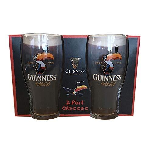 Guinness Toucan - Confezione da 2 bicchieri da pinta