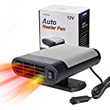 Car Heater, 2020 Upgrade Car Heater 12V Portable, Winter Auto Windshield Fast Defroster Defogger, 150W Automobile Demister Cooling Car Heater Fan Plug In Cigarette Lighter Best Gift For Winter(Gray)