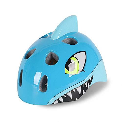 Qwhome Casco para niños Ajustable para niños Casco para Tiburones Equipo de Ciclismo para niños Equipo de protección para niños,Blue
