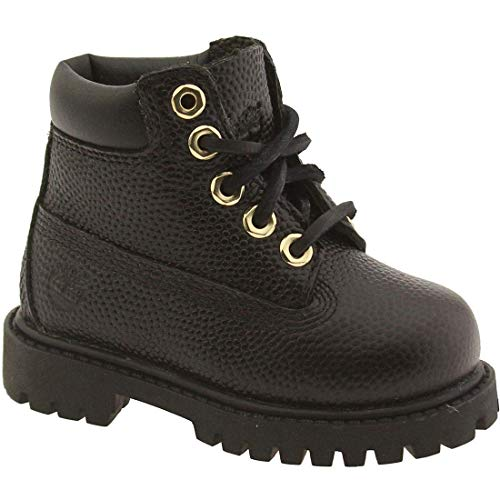 Timberland [6IN Boot INF-TB0A16XQ] 6INCH Classic CONTRUCTION Boot Infants Boots TIMBERLANDBLACK TEXTUREDM