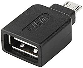 WEme Micro USB 2.0 OTG Adapter, Micro B Male to USB A Female On The Go Converter for Samsung I9250 9100 9220 P7500 P7510 P7310 P7300 S3 I9100 I9103 I997, N7100, LT261 XT910, Nexus 7 Nokia 810, Black