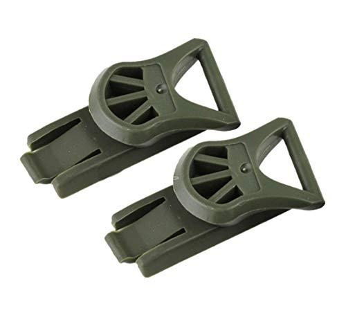 haoYK Taktischer Airsoft Helm Seitenschiene Schnalle Zubehör Nachtsicht Brille Rotary Klemmschiene Adapter für schnellen Helm, OD
