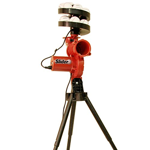 HEATER SPORTS Slider Lite Curveball Baseball Pitching Machine for Kids, Teens, and Adults, Uses Pitching Lite Machine Baseballs & Plastic Baseballs, Includes Automatic Ballfeeder