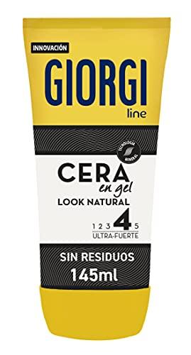 Giorgi Line - Cera en Gel Look Natural, Acabado Flexible 48h y Aplicación Express, Fijación 4 Ultra-Fuerte - 145 ml