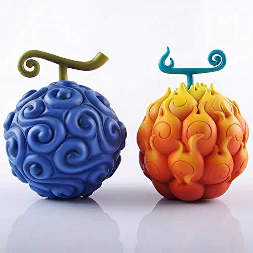 Juego de 2 piezas para disfraz de fruta del demonio, llama y luffy Gum-Gum Chopper de una pieza, accesorio de fruta del demon, flamenco, figura de juguetes