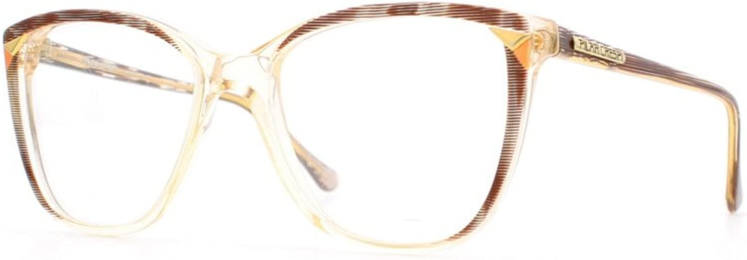 Pilar Crespi 611 MG1 Clear and Brown Authentic Women Vintage Eyeglasses Frame