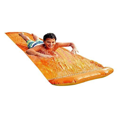 Dream-cool Wasserspielzeug Garten Wasserrutsche Rutschmatte, Splash Pad Sprinkler Kinder Play Matte Spielmatte Sommer Outdoor Spielzeug 360X70CM