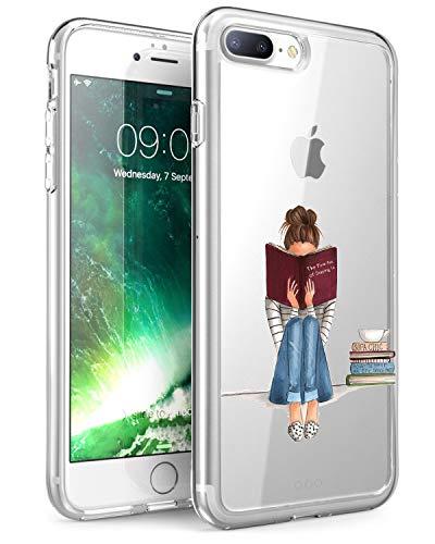 Caler Funda Compatible para Funda iPhone 7 Plus iPhone 8 Plus Case, Suave TPU Gel Silicona Ultra-Delgado Ligera Anti-rasguños Dibujos Patrones Imagen Wonderful Carcasa para iP7+ (Tiempo de Lectura)