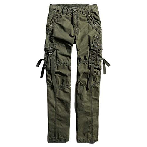 Katenyl Pantalones Cargo Multibolsillos para Hombre Costuras de Trabajo de Combate Moda Casual Versátil Fitness Senderismo Pantalones básicos Todos los tamaños de Cintura 34