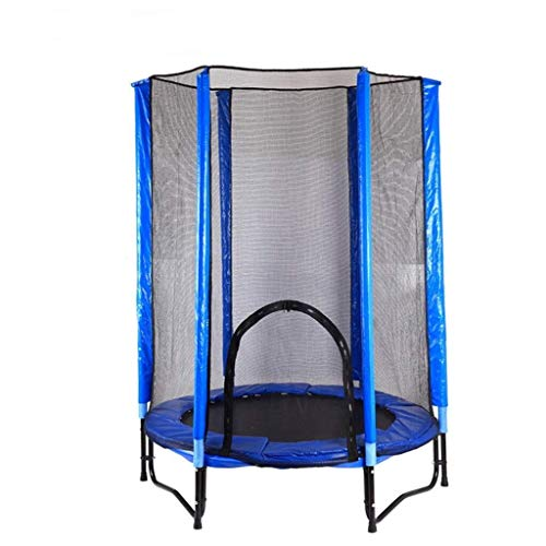 LJFYMX Trampoline Trampoline veiligheidsnet model voor tuin trampoline 140 cm in diameter, trampoline veiligheidsnet met stang en rits Indoor trampoline