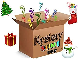 Mystery Box Slime (FREE SHIPPING!!) |Homemade Slimes| 5 Different (2oz) Containers, Butter, Cloud, Fluffy, Crunchy, Scented, Clicky, Stretchy, Blue,Pink, Random, Foam beads, Stress Relief, Slime Kit