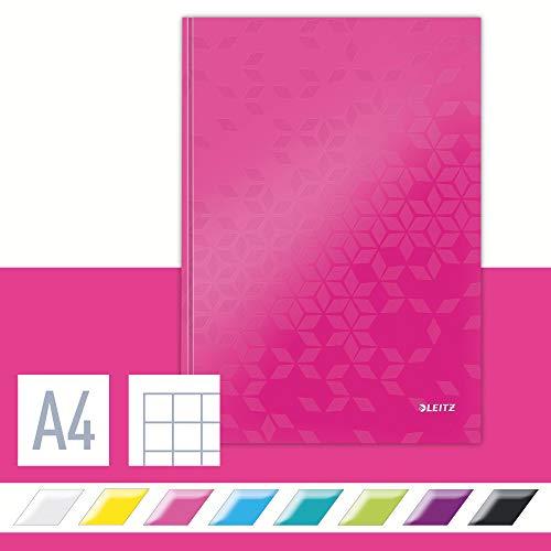 Leitz 46261023 Notizbuch WOW, A4, kariert, pink