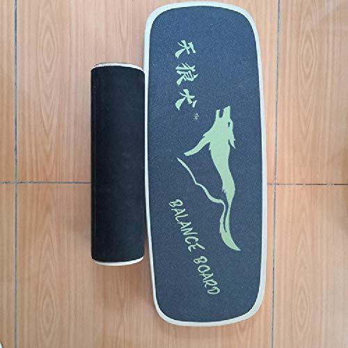 LFJY Anti-Rutsch-Yoga Balance Board Rehabilitationstraining Holz Yoga Vorstand Home Fitness Balance Board Snowboard,Black