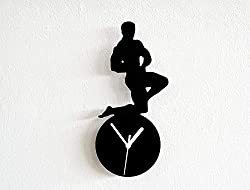 funny gifts for gym lovers ~ silhouette clock