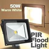 Hohe Qualität 50W 4200LM Warmweiß PIR Motion Sensor Sicherheit Flutlicht