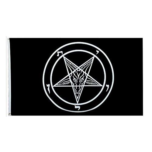 Baphomet Flagge Ritter Kirche Satan Flagge Pentagramm Dämonen Satanic Ziegenkopf Flagge Satanic Symbol Vector Outdoor Flagge 1 Stück