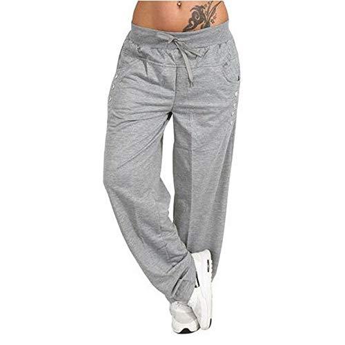 Sylar Pantalones Mujer Deporte Talla Grande Moda Color Sólido Cinturón Suelto Simple Deportes Pantalones Casuales Pantalones De Pierna Ancha