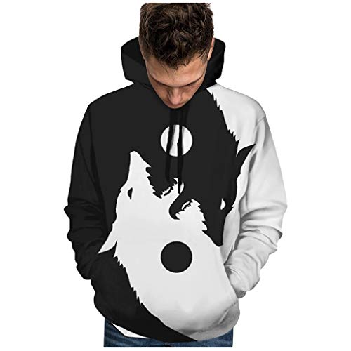 Luckycat Hoodie Hombre Funny 3D Impreso Sudadera Unisex Dise