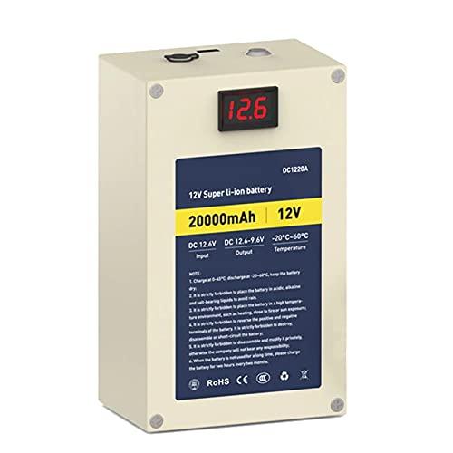 ZOOMLOFT Paquete De Batería De Litio Recargable De 12V 20Ah con Salida USB,Pantalla LED Y Cargador
