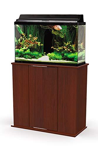 Aquatic Fundamentals AMZ-36291-68, 29 Gallon Aquarium Stand with Storage, Serene Cherry Finsh