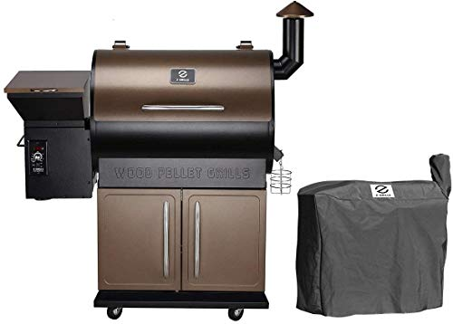 Learn More About Z GRILLS ZPG-700D Wood Pellet Grill Smoker for Outdoor Cooking with Cover, 2020 Upg...