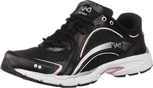 RYKA SKY WALK Walking Shoe, Black/Pink, 8 W US