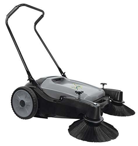 Affordable Johnny Vac Manual Floor Sweeper 32 (81.3 cm) Cleaning Path - 2 Side Brushes - Tank of 10...