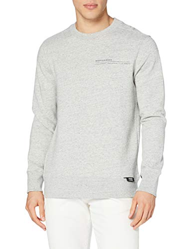 Scotch & Soda Mens Signature Baumwolle Sweatshirt, 0606 Grey Melange, L