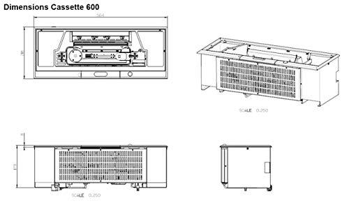 Faber Cassette 600Opti de Myst Slimline eléctrico Uso