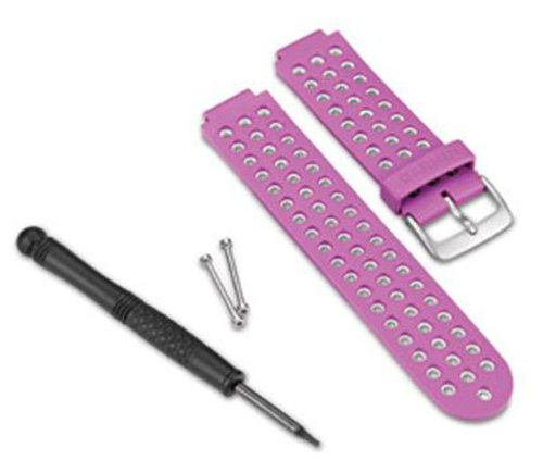 Garmin - Bracelet de Rechange pour Montres Forerunner 220 - Blanc/Violet