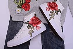 embroidered gift ideas ~ floral sneakers