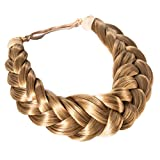 Madison Braids Women's Two Strand Headband Hair Braid Thick Natural looking Extension - Halo - Dirty Blonde