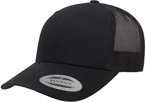 Yupoong Mens Yp Classics Retro Trucker Cap Hat, Black, One Size US
