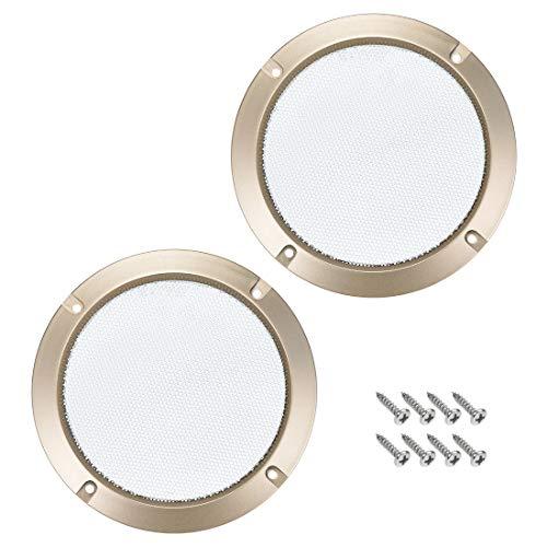 Sourcingmap - Juego de 2 protectores de rejilla para altavoces, color dorado