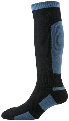 SealSkinz Herren Socken Mid Weight Knee Length, Black, S
